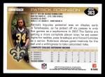 2010 Topps #363  Patrick Robinson  Back Thumbnail