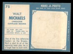 1961 Topps #75  Walt Michaels  Back Thumbnail