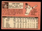 1969 Topps #209  Larry Haney  Back Thumbnail