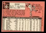 1969 Topps #257  Jim Ray  Back Thumbnail