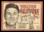 1969 Topps #24 xBRK Walter Alston  Back Thumbnail