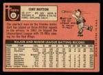 1969 Topps #37  Curt Motton  Back Thumbnail