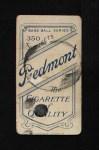 1909 T206 #226 POR Christy Mathewson  Back Thumbnail