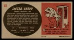 1961 Topps Sports Cars #61   Lister-Chevy Back Thumbnail