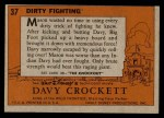 1956 Topps Davy Crockett #37 ORG  Dirty Fighting  Back Thumbnail