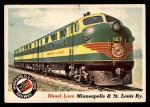 1955 Topps Rails & Sails #21   Diesel Loco Front Thumbnail