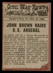 1962 Topps Civil War News #1   The Angry Man Back Thumbnail