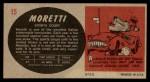 1961 Topps Sports Cars #15   Moretti Back Thumbnail