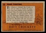 1956 Topps Davy Crockett #20 ORG  Hand Fighting  Back Thumbnail