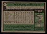 1979 Topps #137  Larry Wolfe  Back Thumbnail