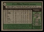 1979 Topps #191  Mike Norris  Back Thumbnail