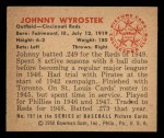 1950 Bowman #197 CPR John Wyrostek  Back Thumbnail