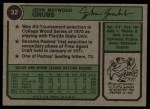 1974 Topps #32 WAS Johnny Grubb  Back Thumbnail