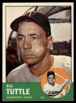 1963 Topps #127  Bill Tuttle  Front Thumbnail