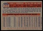 1957 Topps #154  Red Schoendienst  Back Thumbnail