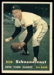 1957 Topps #154  Red Schoendienst  Front Thumbnail
