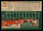 1954 Topps #124  Marion Fricano  Back Thumbnail