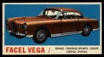 1961 Topps Sports Cars #44   Facel Vega Front Thumbnail