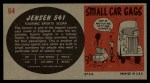 1961 Topps Sports Cars #64   Jensen 541 Back Thumbnail