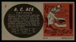 1961 Topps Sports Cars #8   A.C. Ace Back Thumbnail