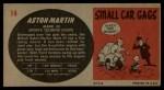 1961 Topps Sports Cars #14   Aston-Martin Mark III Back Thumbnail
