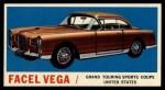 1961 Topps Sports Cars #44   Facel Vega Front Thumbnail