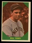 1960 Fleer #52  Bill Terry  Front Thumbnail