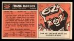 1965 Topps #105  Frank Jackson  Back Thumbnail