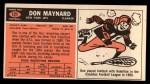 1965 Topps #121  Don Maynard  Back Thumbnail
