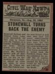 1962 Topps Civil War News #30   Charging the Bullets Back Thumbnail