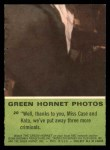 1966 Donruss Green Hornet #20   Well thanks to you Back Thumbnail