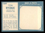 1961 Topps #164  Tom Rychlec  Back Thumbnail