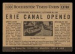 1954 Topps Scoop #133   Erie Canal Opened Back Thumbnail