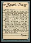 1964 Topps Beatles Diary #60 A John Lennon  Back Thumbnail