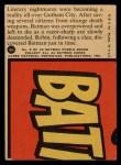 1966 Topps Batman Red Bat #5 RED  Pendulum Peril Back Thumbnail