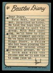 1964 Topps Beatles Diary #6 A Paul McCartney  Back Thumbnail