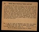 1941 Gum Inc. War Gum #57   Dutch Hero Destroys Tanks And Self Back Thumbnail