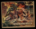 1941 Gum Inc. War Gum #57   Dutch Hero Destroys Tanks And Self Front Thumbnail