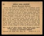 1941 Gum Inc. Uncle Sam Home Defense #89   Marine Mountain Battery Back Thumbnail