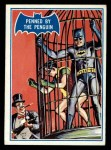 1966 Topps Batman Blue Bat Puzzle Back #16 PUZ  Penned by the Penguin Front Thumbnail