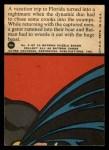 1966 Topps Batman Red Bat #2 RED  Grappling a Gator Back Thumbnail