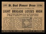1954 Topps Scoop #155   Charge Of The Light Brigade Back Thumbnail