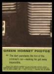 1966 Donruss Green Hornet #41   Dart puncturing tire Back Thumbnail