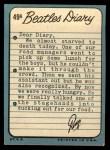 1964 Topps Beatles Diary #49 A Ringo Starr  Back Thumbnail
