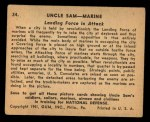 1941 Gum Inc. Uncle Sam Home Defense #34   Landing Force In Attack Back Thumbnail