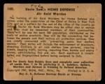 1941 Gum Inc. Uncle Sam Home Defense #100   Air Raid Warden Back Thumbnail