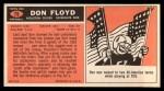 1965 Topps #75  Don Floyd  Back Thumbnail