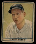 1941 Play Ball #39  Tommy Henrich  Front Thumbnail