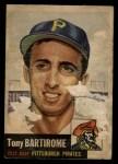 1953 Topps #71  Tony Bartirome  Front Thumbnail