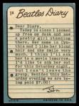 1964 Topps Beatles Diary #1 A John Lennon  Back Thumbnail